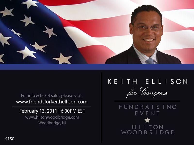 a fundraiser for congressman keith ellison